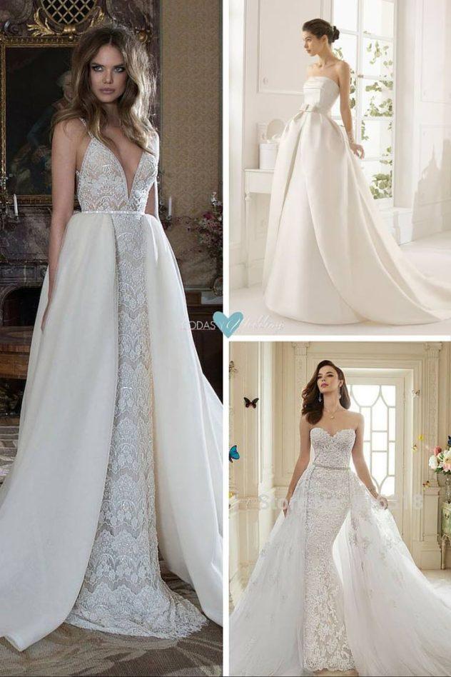 Berta Bridal con sus vestidos de novia desmontables tan sexy-chic que los caracteriza. La maravillosa Sophia Tolli nos regala este lujoso vestido desmontable vintage en su colección 2016.