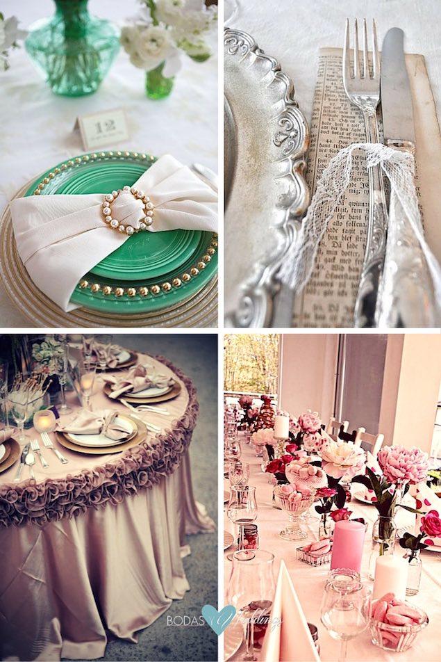 Decoracion de mesas para bodas great velas con cristales para decorar la mesa de tu boda with - Decoracion de mesas para fiestas ...