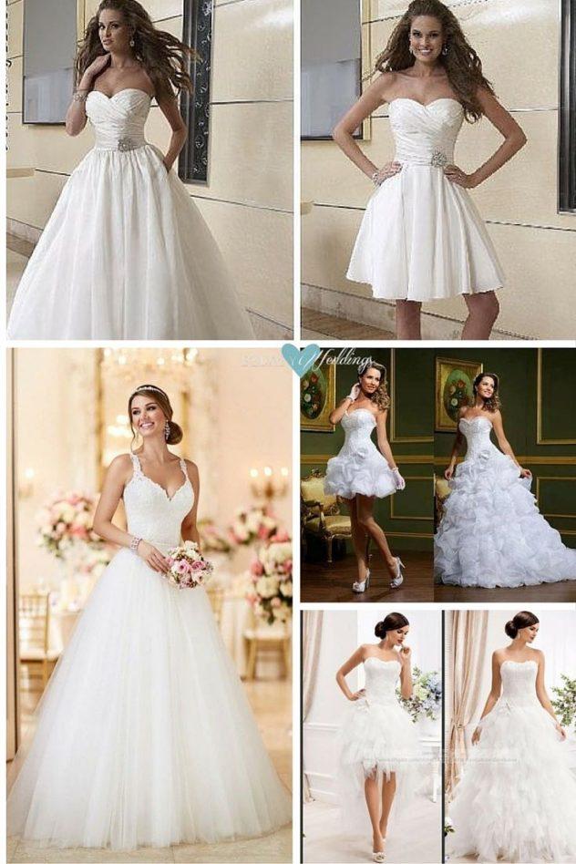 Vestidos de novia desmontables: magia, belleza y practicidad.