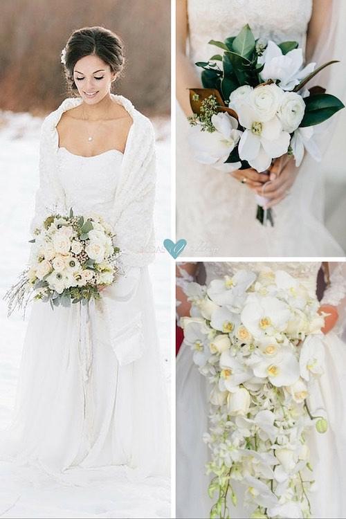 Bouquets para novias en blanco purísimo.