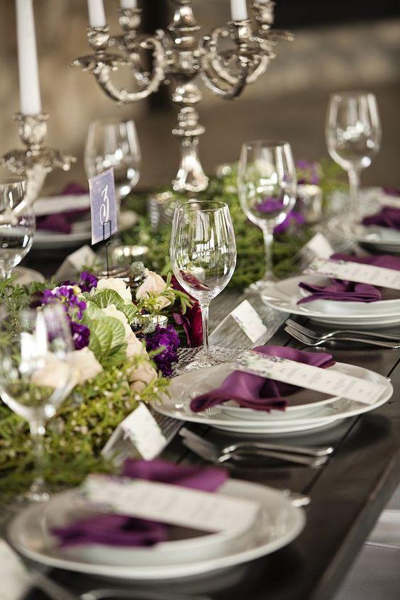 Ideas de decoración de mesas para fiestas de casamiento.