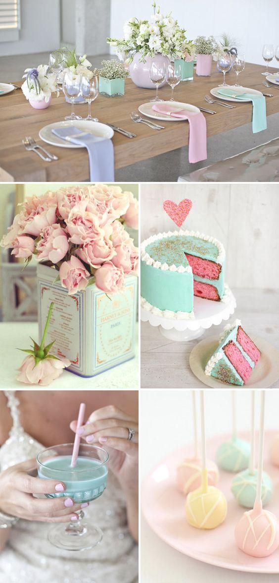 Detalles en pastel para agregar a la decoración de tus mesas.