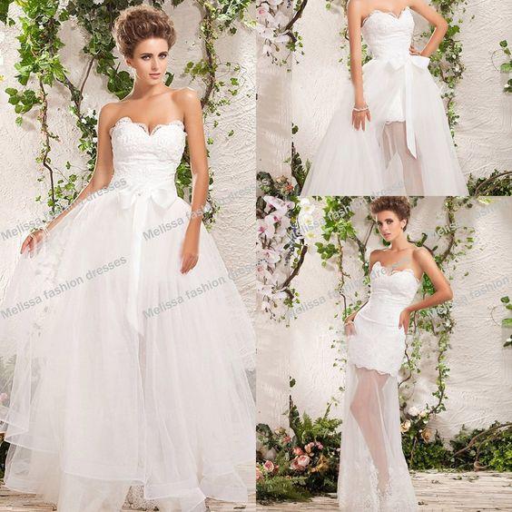 ¿Que opinas de los vestidos de novia desmontables o 2 en 1?