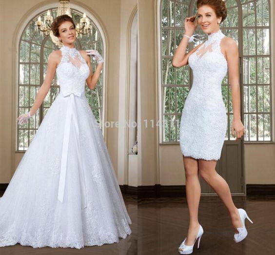 Una princesa en la ceremonia y una diablilla en la fiesta de casamiento!! Trajes de novia desmontables.