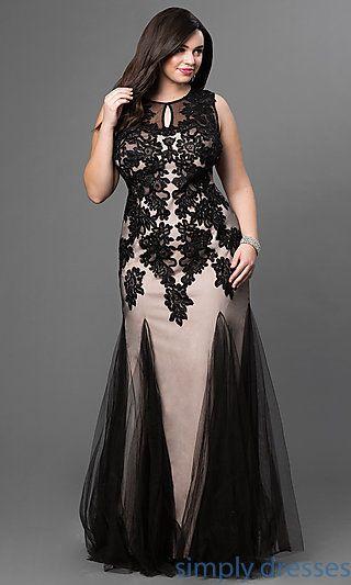 Imagen de vestido de noche para gorditas