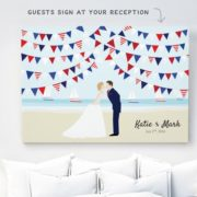 4th of July wedding guestbook. Isn't it adorable?