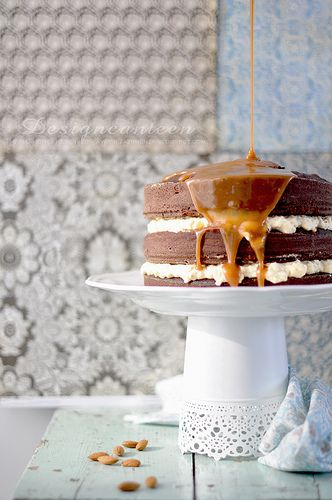 Add a salted caramel cake to your brunch wedding menu. Photo by Dizajnmenza on Flickr