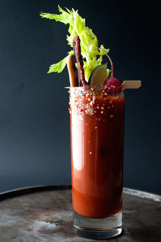 Bloody Mary's you have to see to believe. Add some iced beer for the perfect Mexican Michelada.