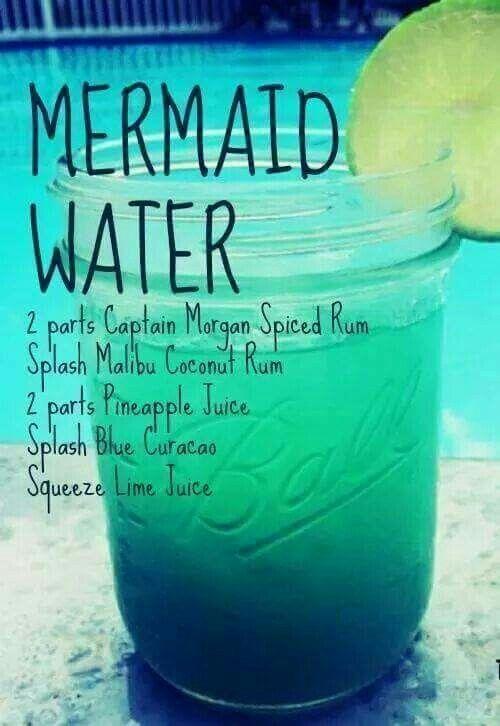 Receta de cocktails para una boda náutica. Mermaid water sin water.