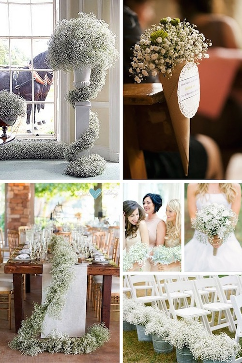 23+ Classy and Romantic Baby's Breath Wedding Decor Ideas.