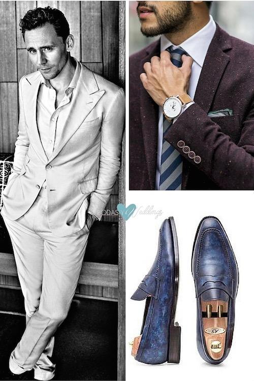 Tendencias en trajes para novios tonos telas y cortes. Tom Hiddleston para Esquire UK - Junio 2016