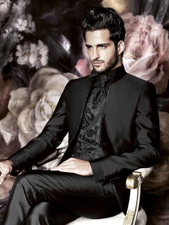 Trajes para novio de Carlo Pignatelli 2016. Una visión en negro.