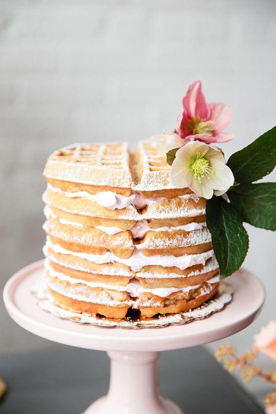 Angel Food Wedding Cake