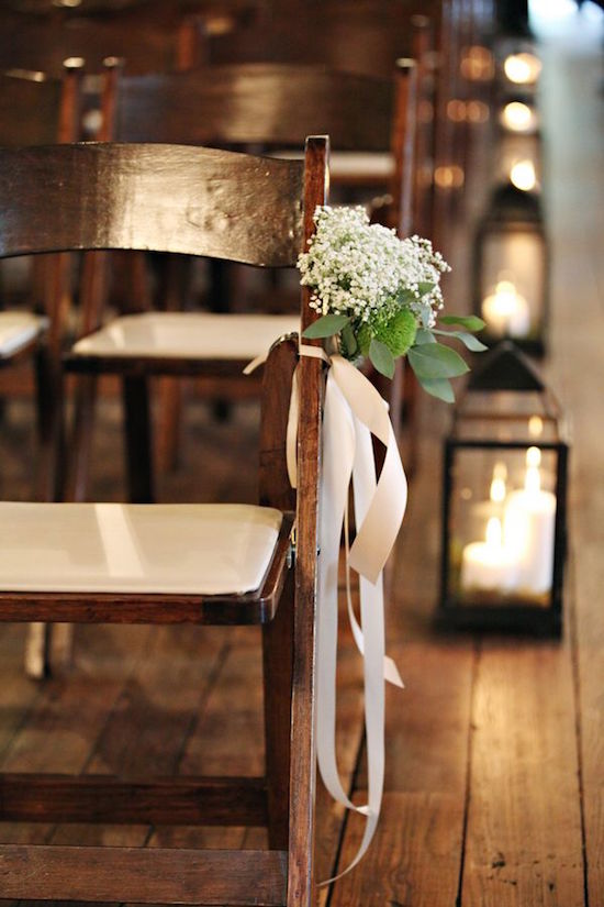 Baby's breath wedding aisle decor ideas.