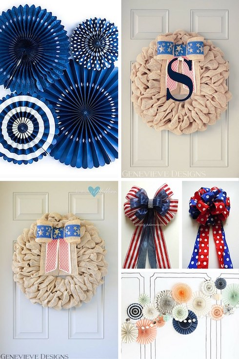 Bows and wreaths decor