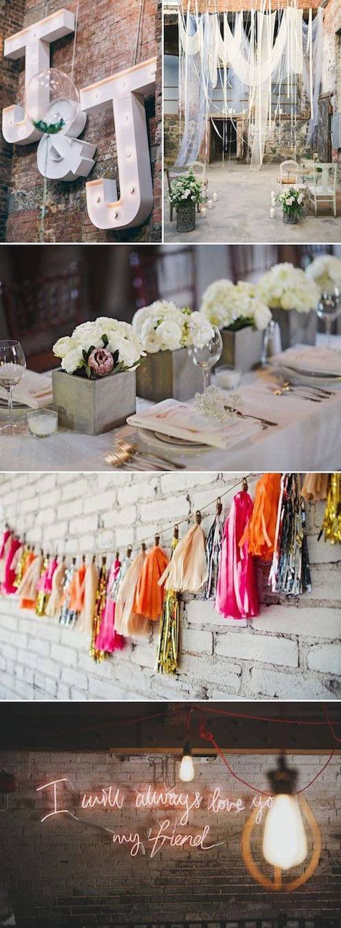 Brunch wedding decor ideas for your coffee stations, dessert tables and more.
