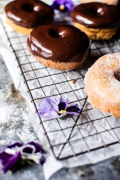 Chocolate glazed mocha doughnuts, a brunch wedding tradition.