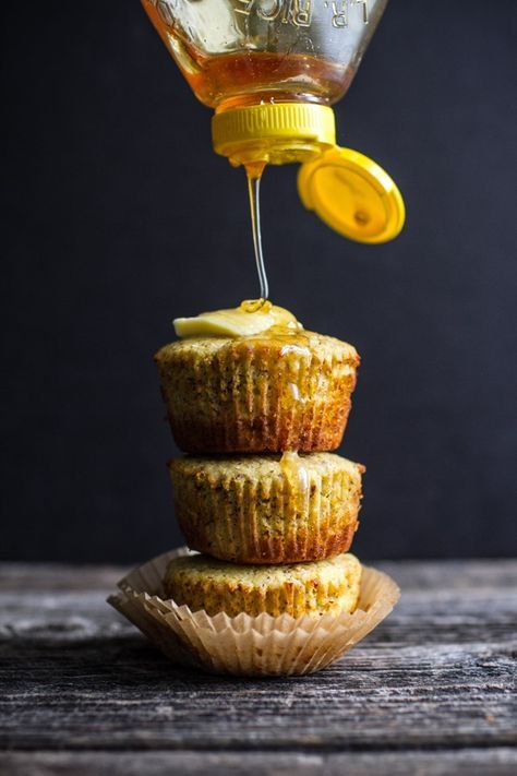 Pile them up and don't forget the honey. Easy cornbread muffins for brunch weddings.