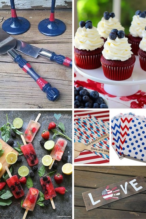 Red, white and blue wedding ideas.