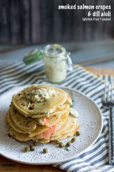 These homemade smoked salmon crepes are grain and gluten free. A great addition to your brunch wedding menu.