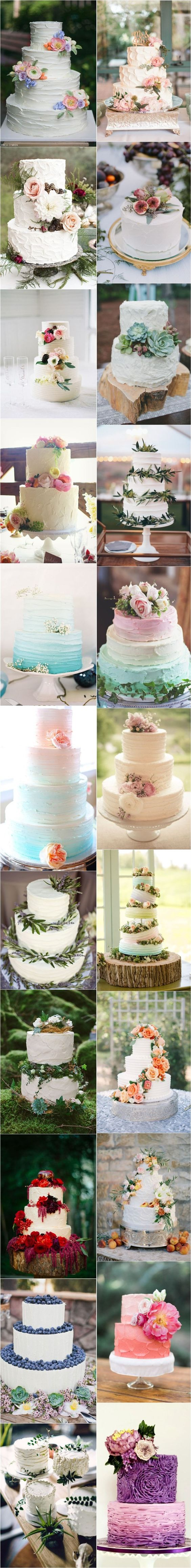 Buttercream wedding cakes. Elegance and texture!!