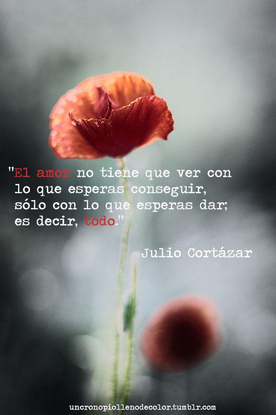 El amor el dichoso amor. Julio Cortázar.