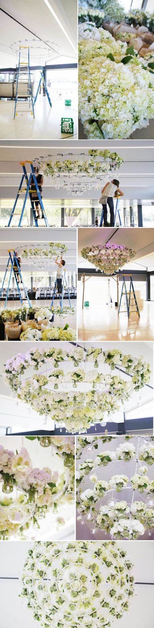 How to DIY your own floral chandelier.