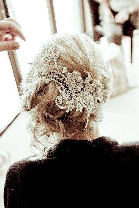 Ideas de tocados de novia vintage.