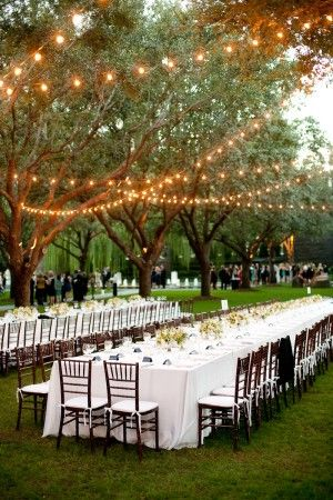 Outdoor wedding decor. Absolutely beautiful.