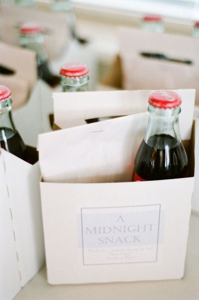 Pack a midnight snack for your guests.
