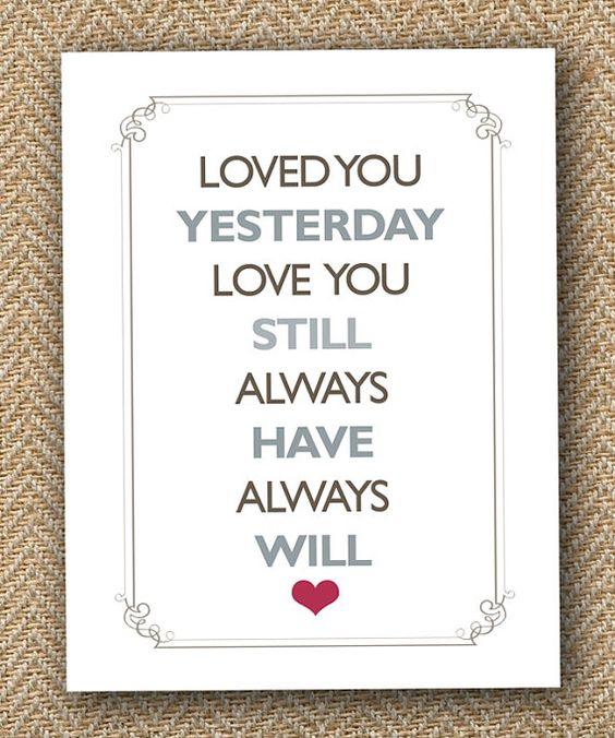 Pensamientos para invitaciones de boda. Siempre te amaré.