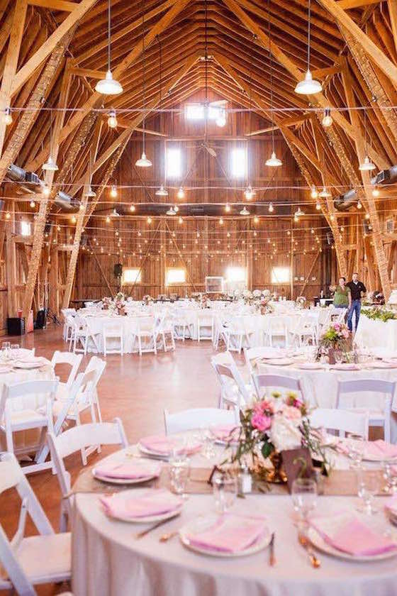 Pink and gold barn wedding ideas. Gorgeous!!