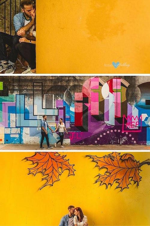 Street Art para tus fotos de compromiso. Everett & Rachel por Christian David Photo.
