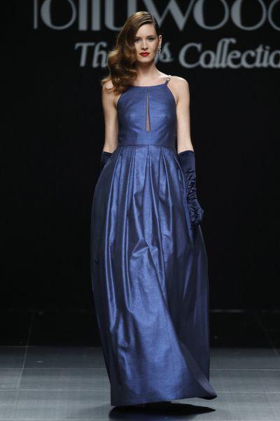Vestidos de Sonia Peña 2016. El azul se viene con todo.