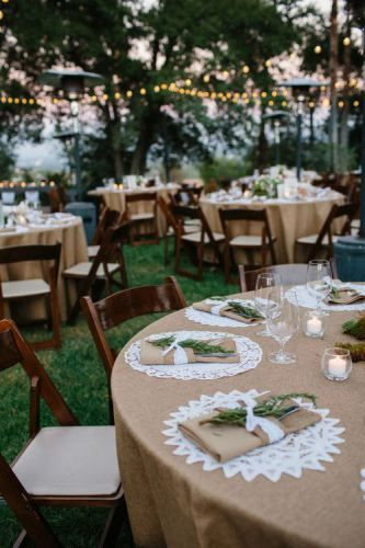 Barn weddings with dining alfresco.