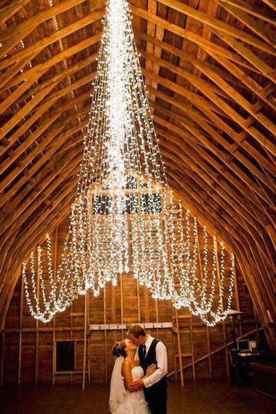 Romantic barn wedding.