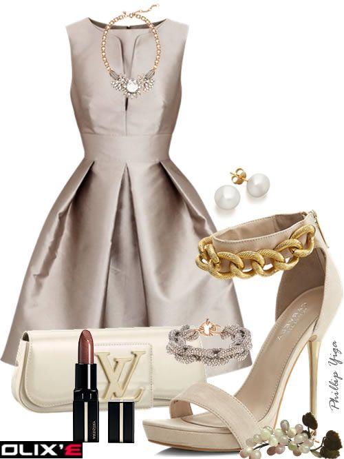 Satin dress outfit.