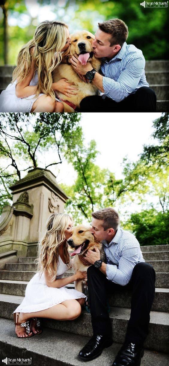 Una toma de fotos en el Central Park de New York con la mascota. Fotografia: Dean Michaels Studio.