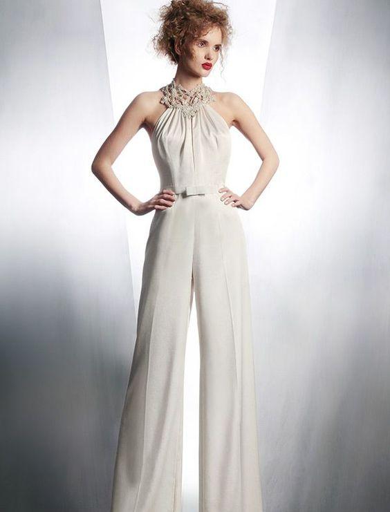 Pantalones de novia poco convencionales y trajes para la novia moderna!