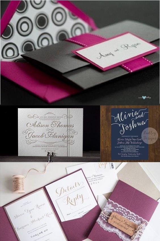 Como elegir el color de las invitaciones para bodas.