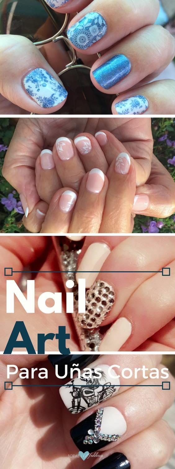 Decoración de uñas cortas para novias. Unas ideas de Nail Art fabulosas y 3 tutoriales para probar ya! <3