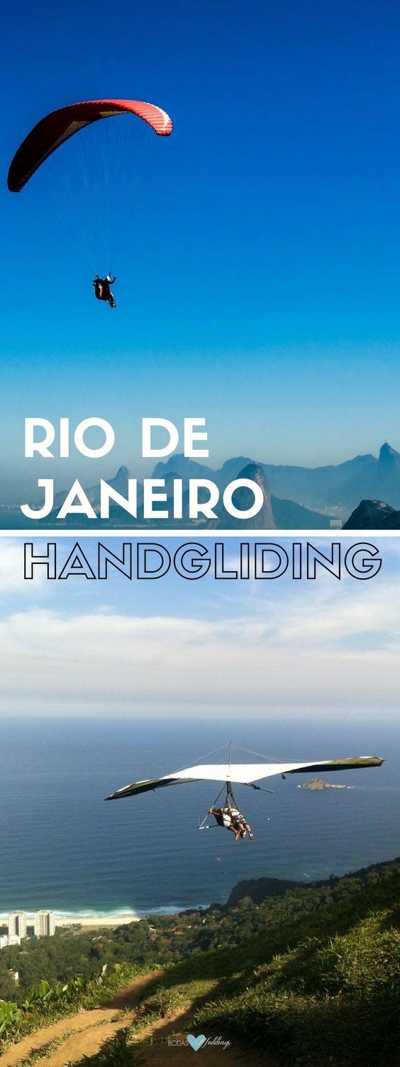 ¿Porque no hacer un poco de handgliding en tu luna de miel en Río de Janeiro?