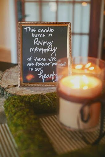 Unique wedding memorial ideas. In loving memory wedding sign.