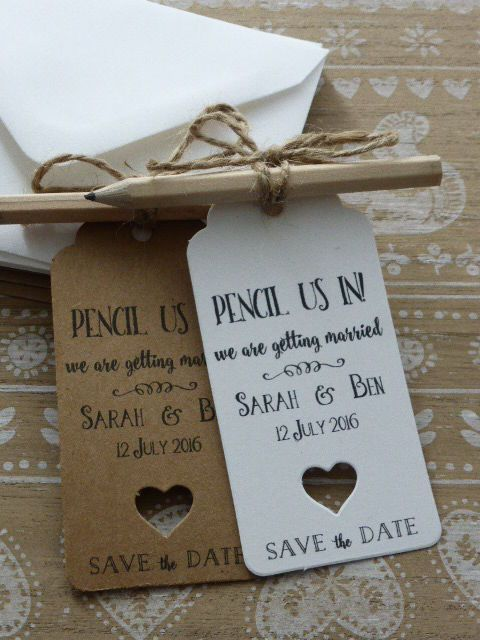 "Original Save-the-date ""Pencil Us In"" o Anótanos!"