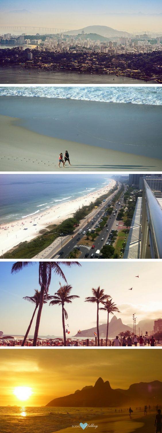 Luna de Miel en Río de Janeiro: Ipanema y Leblon. Para entender porque Ipanema es sinónimo de belleza y entretenimiento, sólo basta caminar o andar en bicicleta bordeando la playa. Barra de Tijuca, Ipanema, vista del Pan de Azúcar.