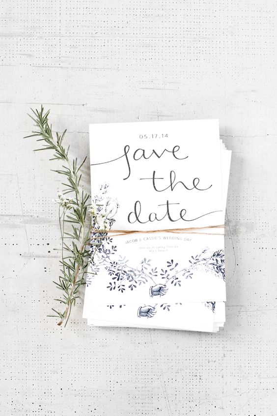 Save the Dates sencillos y originales.
