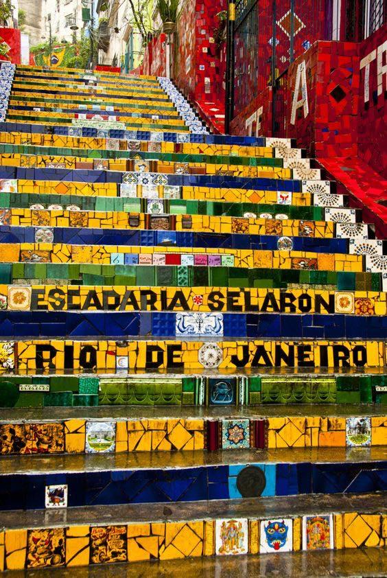Los famosos Selaron steps en Río de Janeiro.