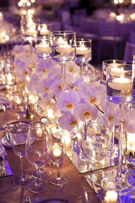 Stunning wedding centerpieces.
