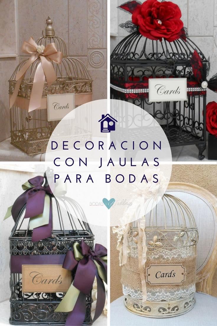 Jaulas Para Decoracion De Bodas ~   jaulas para bodas de ThoseDays  Jaula para bodas shabby chic de