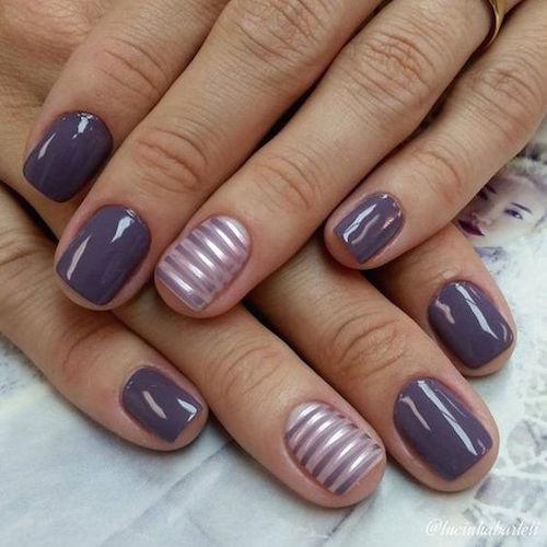 El gris es un color atractivo para las uñas refinado y tradicional a la vez.